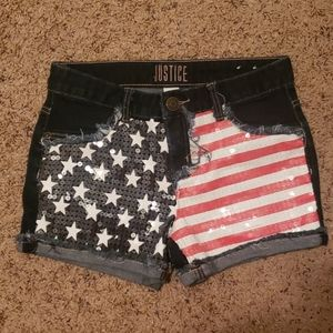 Justice Shorts Girls Size 14